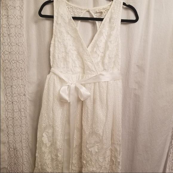 260caa33aadec Jessica Simpson Dresses | Off White Lace Maternity Dress | Poshmark